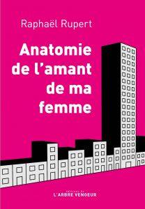 Couverture du roman Anatomie de l'amant de femme. Skyline sur fond rose